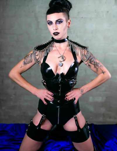 latex and fetish clothing on a dominatrix in London and worldwide sessions